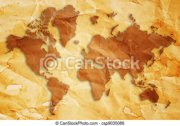 Vintage world map this world map made from vintage background vintage world map csp9035086 gumiabroncs Gallery