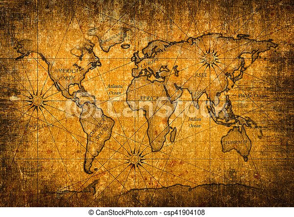 Vintage world map with grunge texture stock photography search vintage world map csp41904108 gumiabroncs Gallery