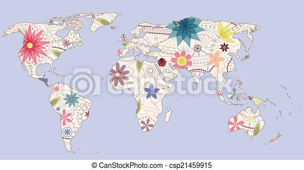 Vector vintage world map eps 10 vector clip art search vintage world map csp21459915 gumiabroncs Images