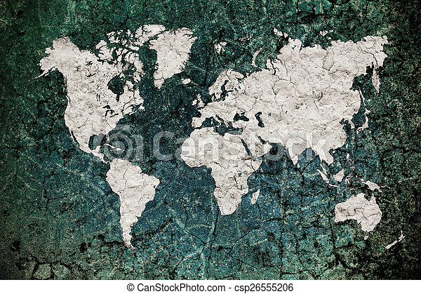Vintage world map with wall background stock photography search vintage world map with wall background stock photo gumiabroncs Gallery