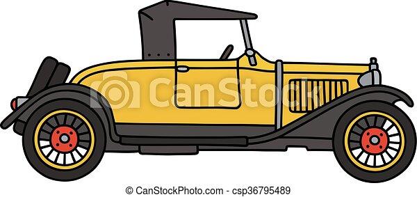 Vintage yellow cabriolet - csp36795489