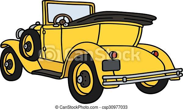 Vintage yellow cabriolet - csp30977033