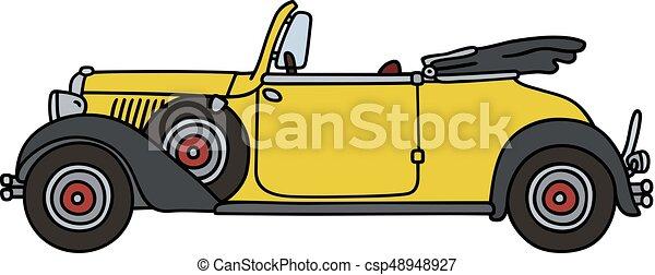 Vintage yellow cabriolet - csp48948927