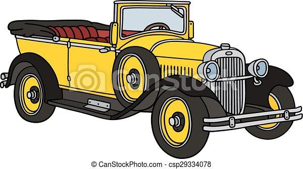 Vintage yellow cabriolet - csp29334078