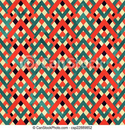 vintage zigzag seamless pattern with grunge effect - csp22889852