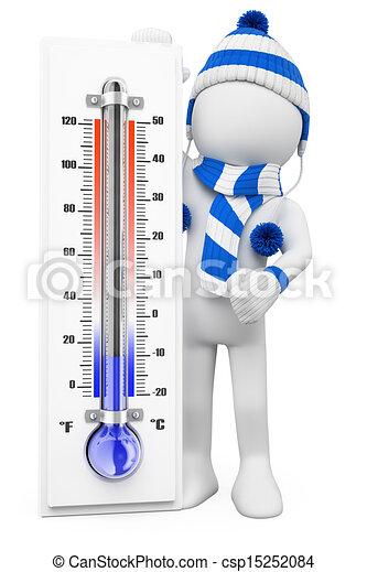 vinter, folk., dagar, vit, kall, 3 - csp15252084