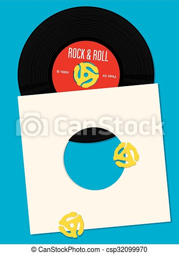 Vinyl Record Design Template - csp32099970