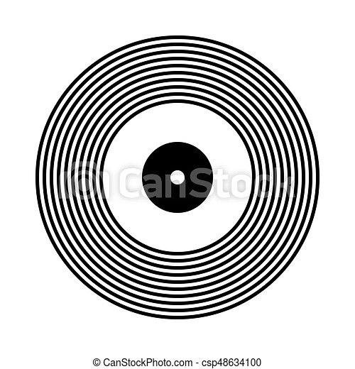 vinyl record icon vinyl record icon on white background vector rh canstockphoto com vinyl record vector logo vinyl record vector graphic