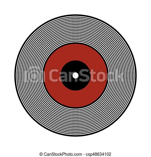 vinyl record icon vinyl record icon on white background vector rh canstockphoto ca vinyl vector free vinyl vector designs