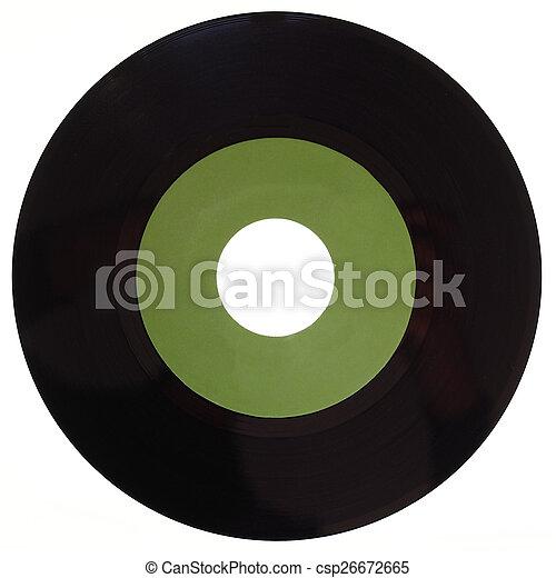 Vinyl record isolated - csp26672665