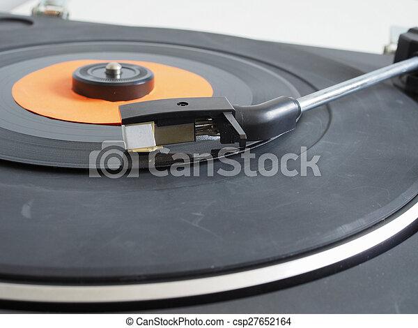 Vinyl record on turntable - csp27652164