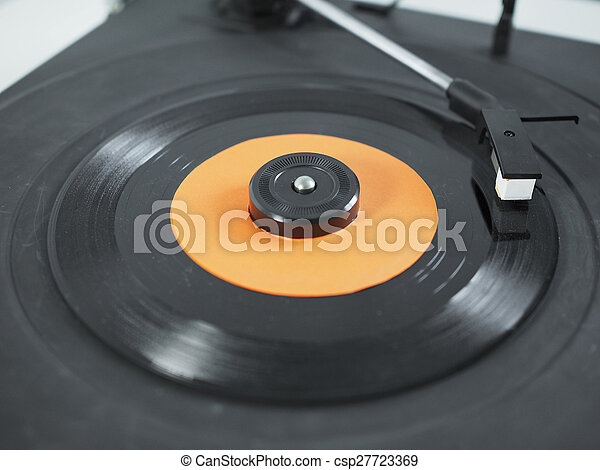 Vinyl record on turntable - csp27723369