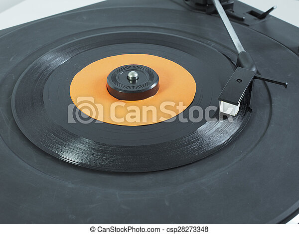 Vinyl record on turntable - csp28273348