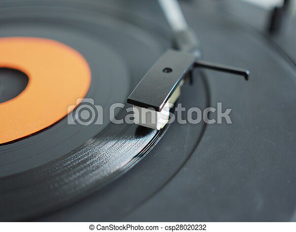 Vinyl record on turntable - csp28020232