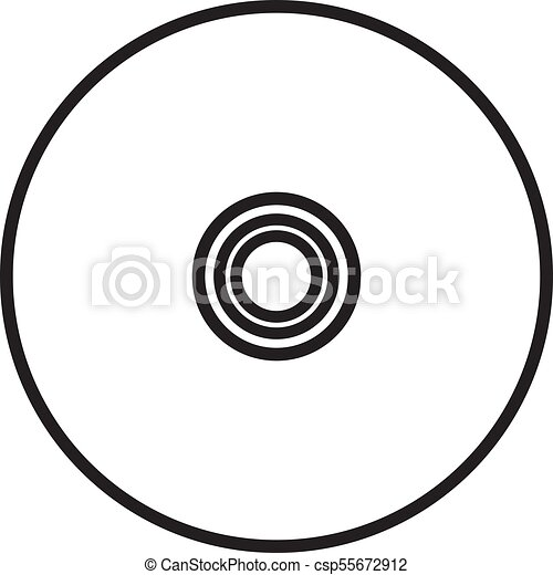 vinyl record vector icon compact cd disk dvd disc vector clip rh canstockphoto com dvd clip art free dvd clipart black and white