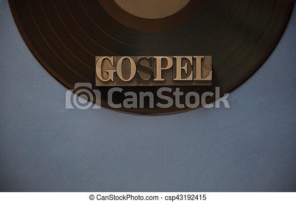 Vinyl record with gospel word - csp43192415