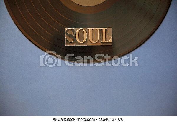 Vinyl record with soul word - csp46137076