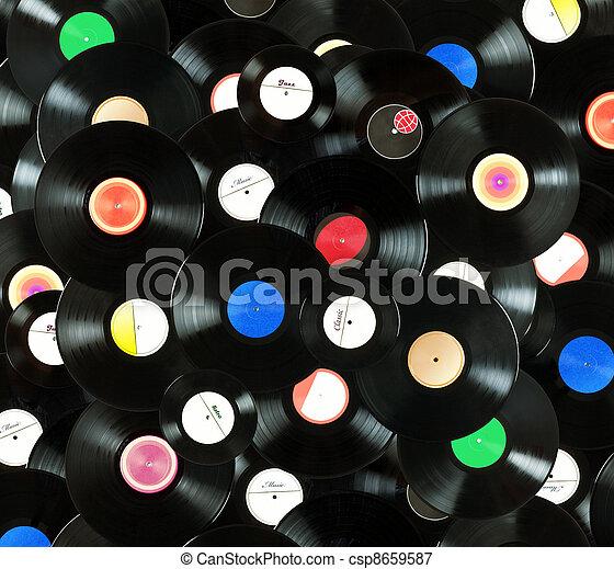 Vinyl records background - csp8659587