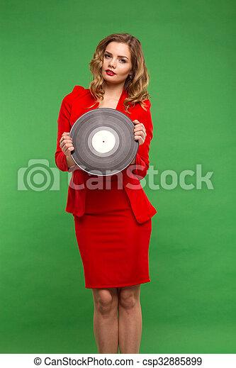 vinyl records. - csp32885899