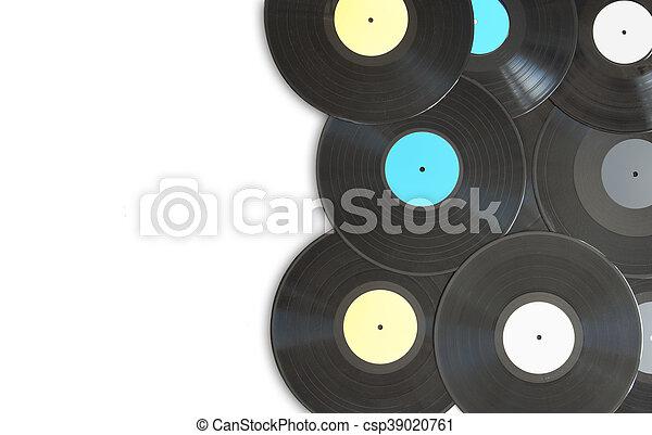 Vinyl records with space - csp39020761