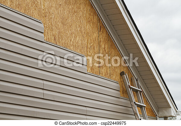 Vinyl Siding Installation On A House In The South - csp22449975