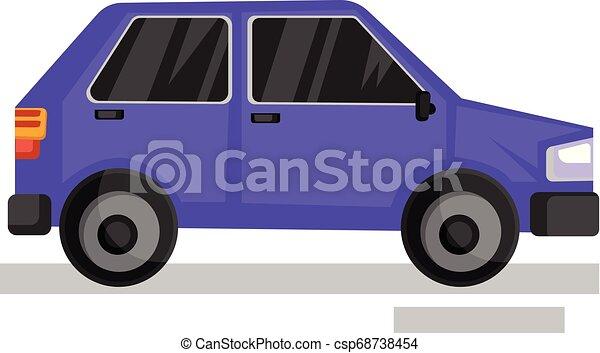 viola, automobile, illustrazione, fondo., vettore, bianco - csp68738454