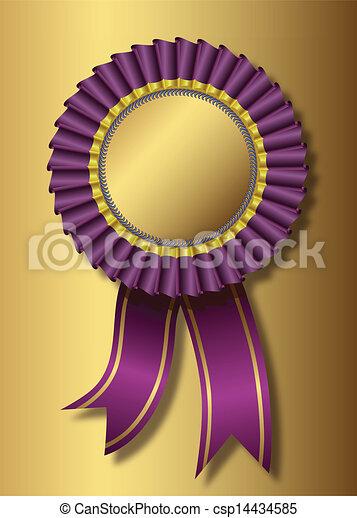 viola, dorato, sopra, premio, fondo - csp14434585