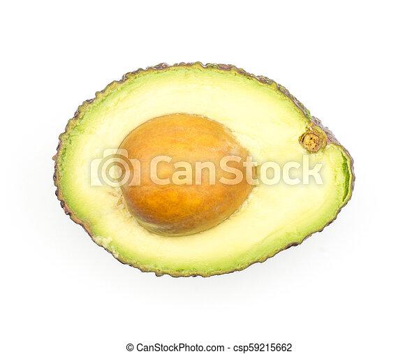 viola, fresco, bianco, avocado, isolato - csp59215662