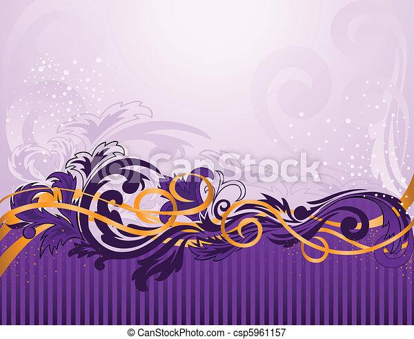 viola, modello, strisce orizzontali - csp5961157
