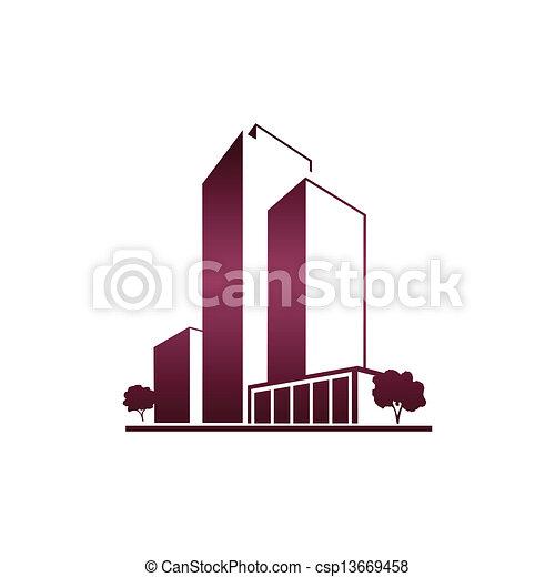 viola, sopra, bianco, appartamenti - csp13669458