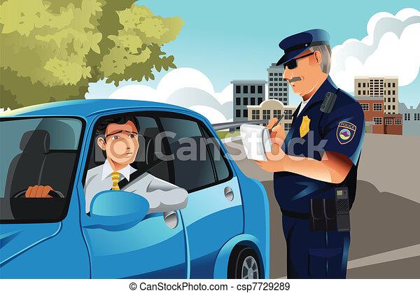 violation, trafic - csp7729289