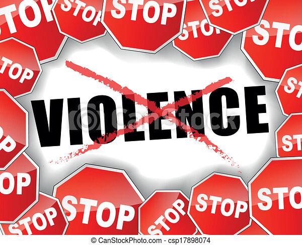 Para la violencia - csp17898074