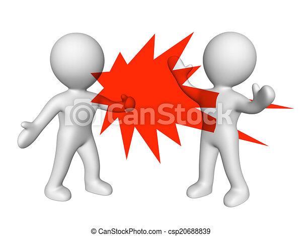 Violencia verbal - csp20688839