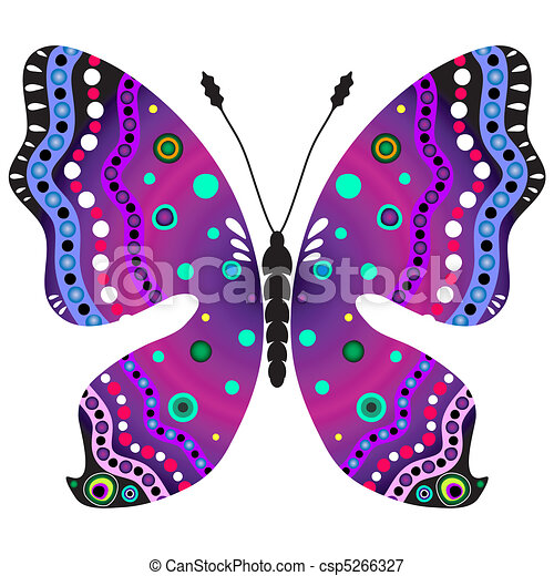 Violet And Black Butterfly Violet And Black Decorative Butterfly
