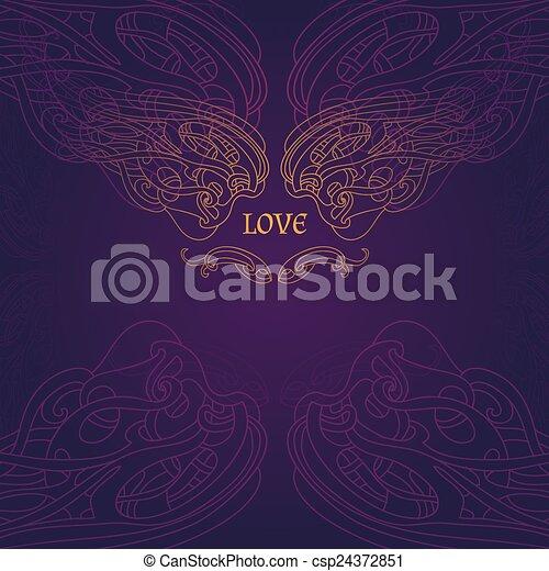 Violet background - csp24372851