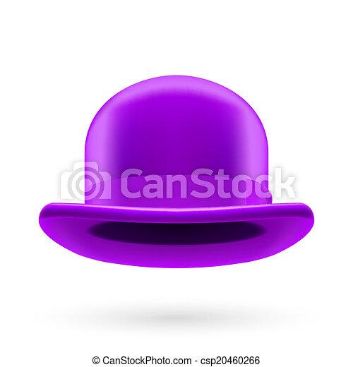 Violet bowler hat - csp20460266