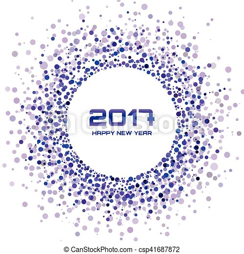 violet circle new year 2017 border on white background transparent confetti circles new year frame vector