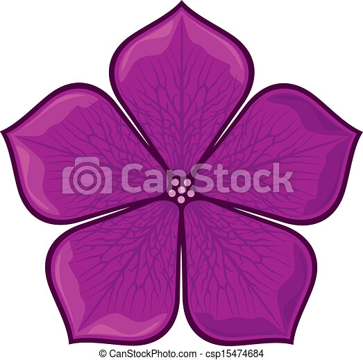 Violet flower vector - Search Clip Art, Illustration ...