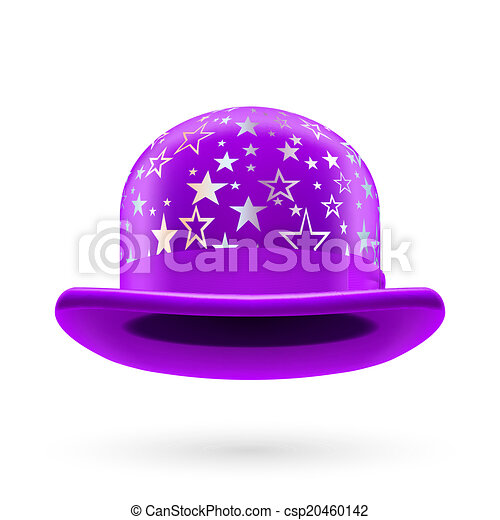 Violet starred bowler hat - csp20460142