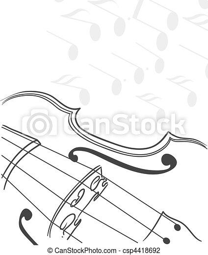 violin background - csp4418692