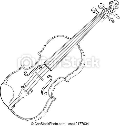 Violin Drawing - csp10177034