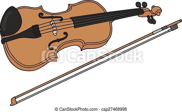 violin hand drawing of a classic violin