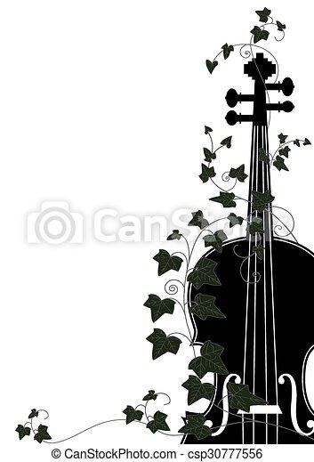 violin end ivy - csp30777556