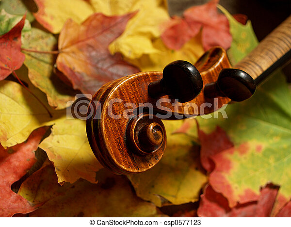 Violin in Autumn - csp0577123