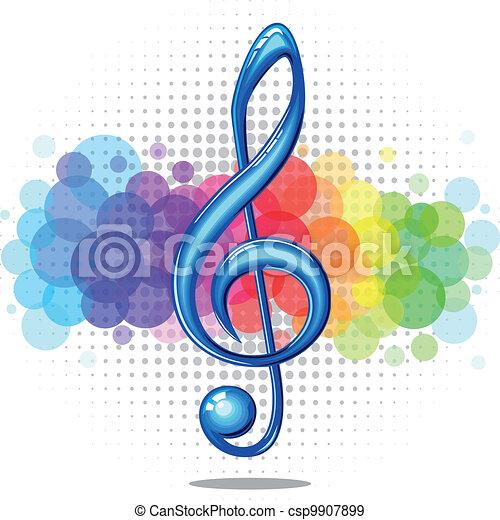 Violin key - csp9907899