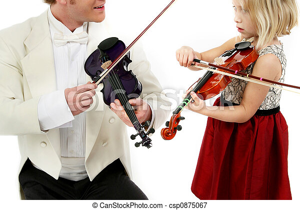 Violin Lesson - csp0875067