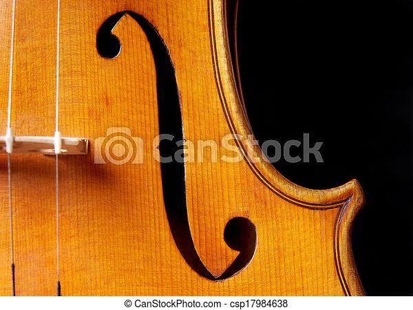 Violin music - csp17984638