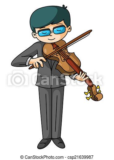 Violin Player - csp21639987