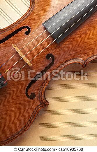 violino, antigas - csp10905760