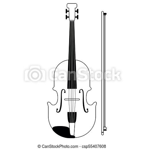 Violino Icon Musical Isolado Instrumento Isolado Ilustracao